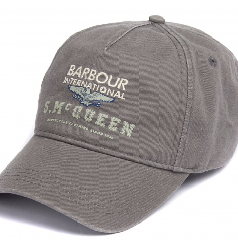Casquette Relay Sports Barbour Steve McQueen Gris