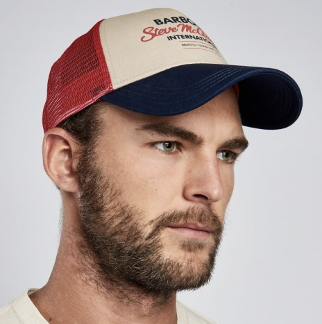 Casquette Trucker Barbour Steve McQueen Navy/Red