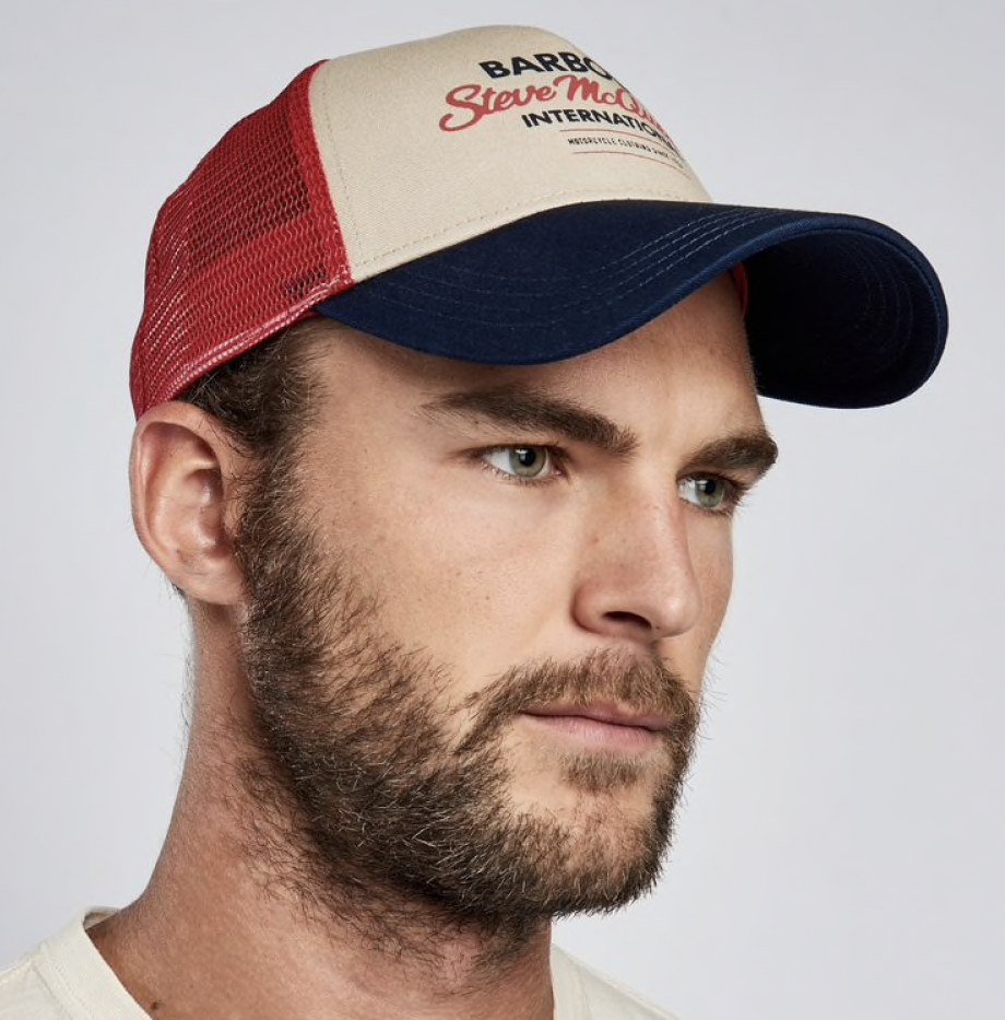 Casquette_Trucker_Barbour_Steve_McQueen_Navy:Red
