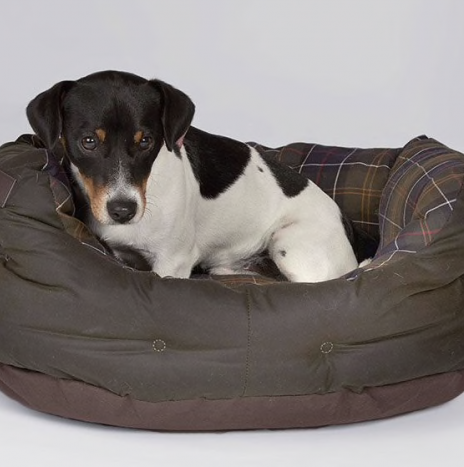 Dog Bed Barbour Olive