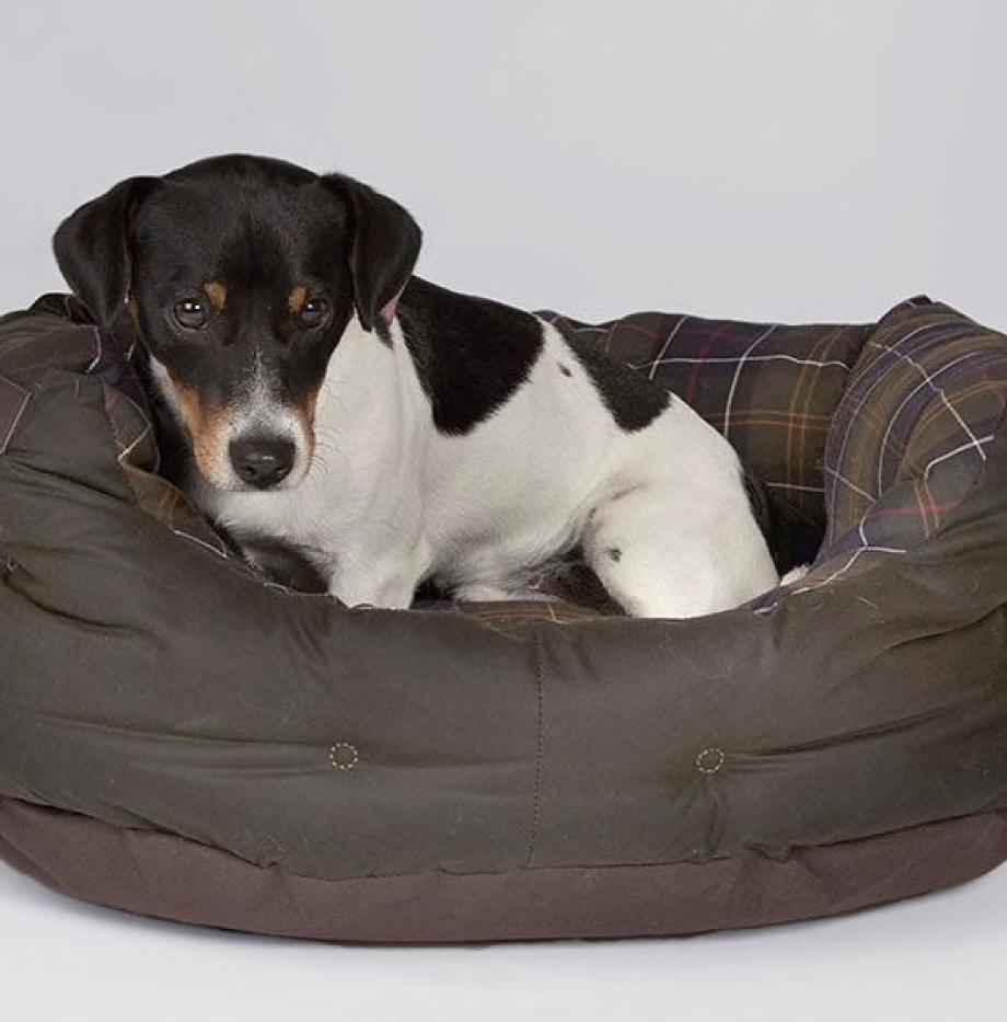 Dog_Bed_Barbour_Olive