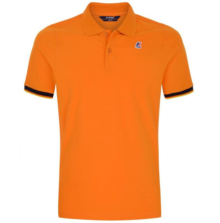 K-way Vincent Contraste Polo Orange
