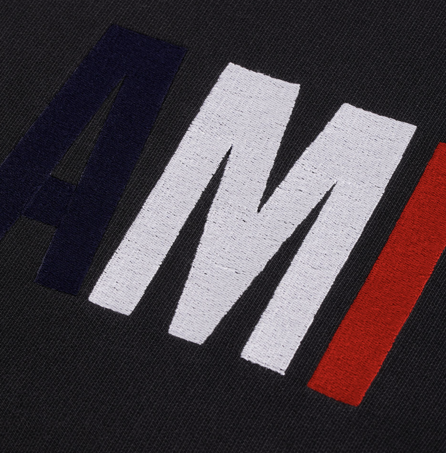 Sweatshirt Broderie Ami Noir