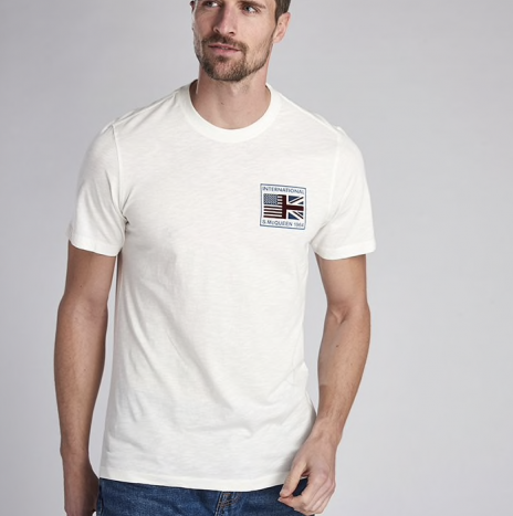 Tee-Shirt Team Flags Barbour International white