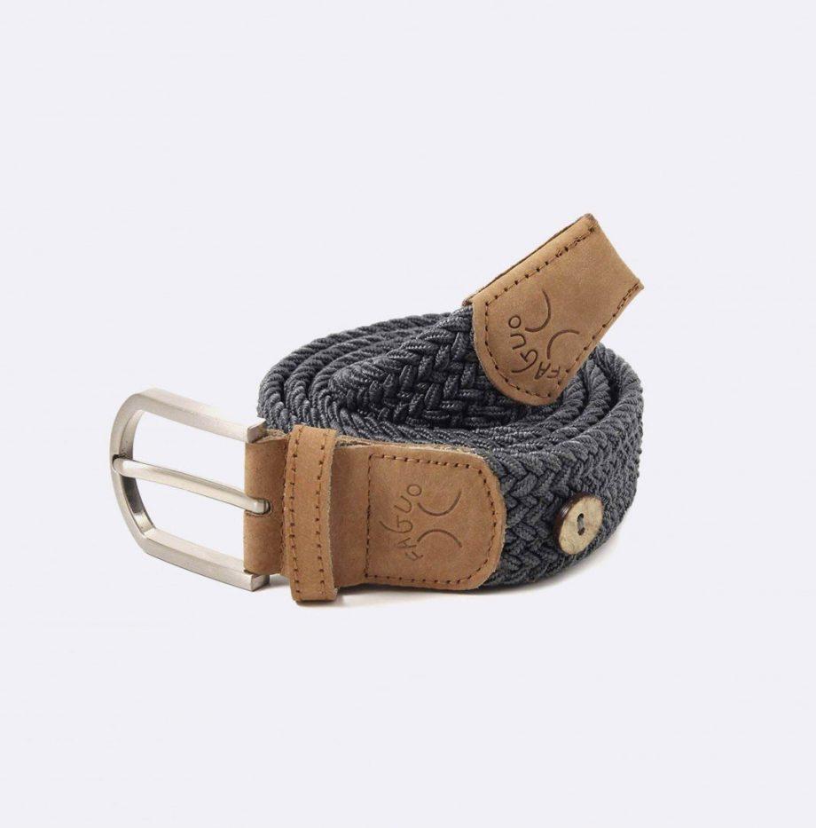 ceinture-tressee-en-polyester-belt-gris-fonce