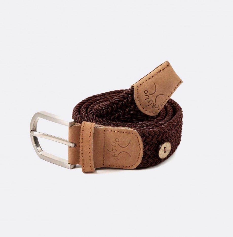 ceinture-tressee-en-polyester-belt-marron