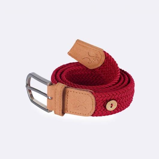 ceinture-tressee-en-polyester-belt-rouge-carmin