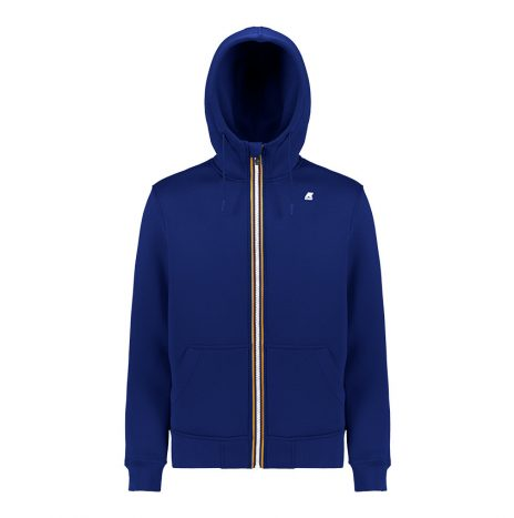 Berenger Sweat Zippé K-way Bleu Marine