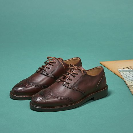 Derbies Louis Monsieur Moustache Cuir cognac patiné