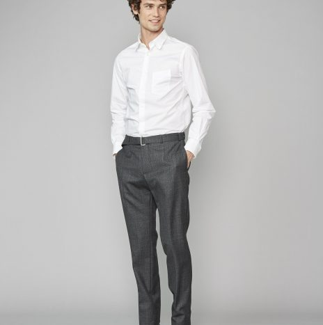 Pantalon Paul Officine Générale Laine Fresco Carreaux Gris