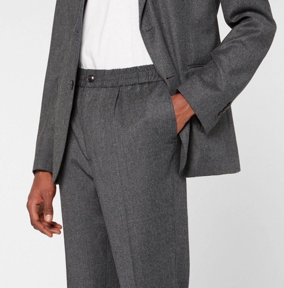 Pantalon Taille Elastique Ami Gris Chine