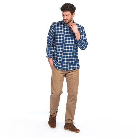 Chemise Barbour Country Check 3 Navy