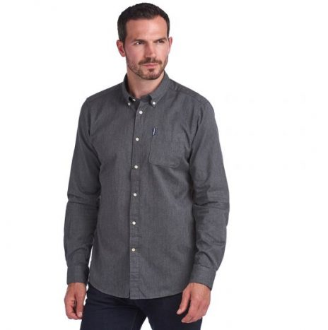 Chemise Barbour Herringbone Grey Marl