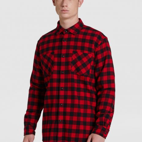 Chemise Flanelle Woolrich Rouge