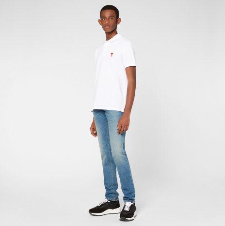 Polo Ami de Coeur Blanc
