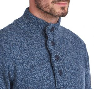 Pull Barbour Patch Half Inky Blue