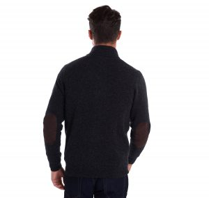 Pull Barbour Patch Half Zip Charcoal