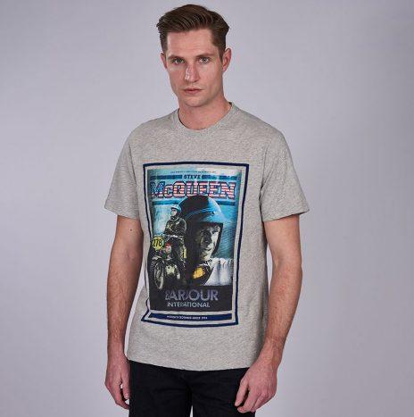Tee-Shirt Barbour Steve McQueen Boon Grey