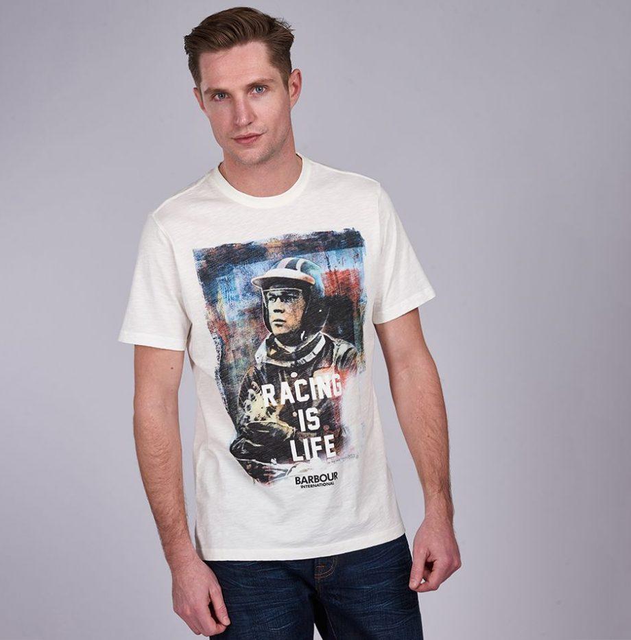 Tee-Shirt_Barbour_Steve_McQueen_Racing_is_Life_Whisper_White