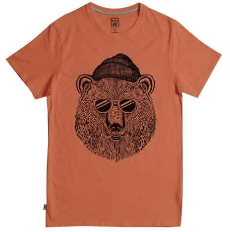 Tee-Shirt StepArt Bear & Sun Rust