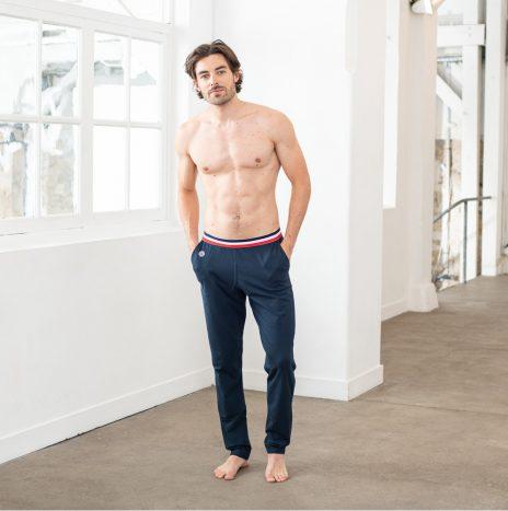 Bas de Pyjama Le Slip Francais Le Toudou Marine