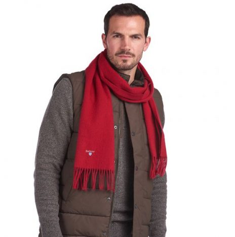 Echarpe Plain Barbour Red