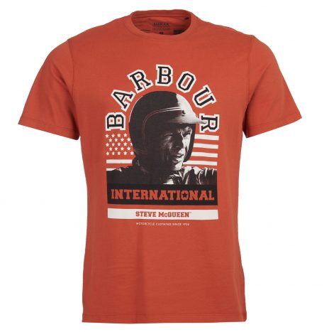 Tee-Shirt Barbour Steve McQueen Jake Brick Red