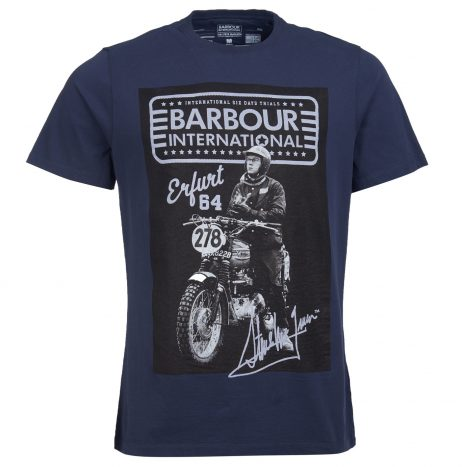Tee-Shirt Barbour Steve McQueen Ringa Navy