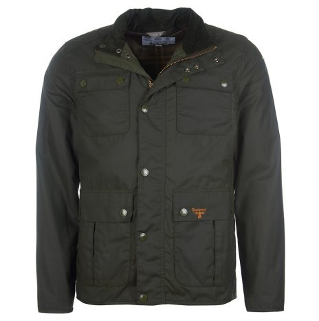 Veste  Barbour Beacon Cordbridge Wax Sage