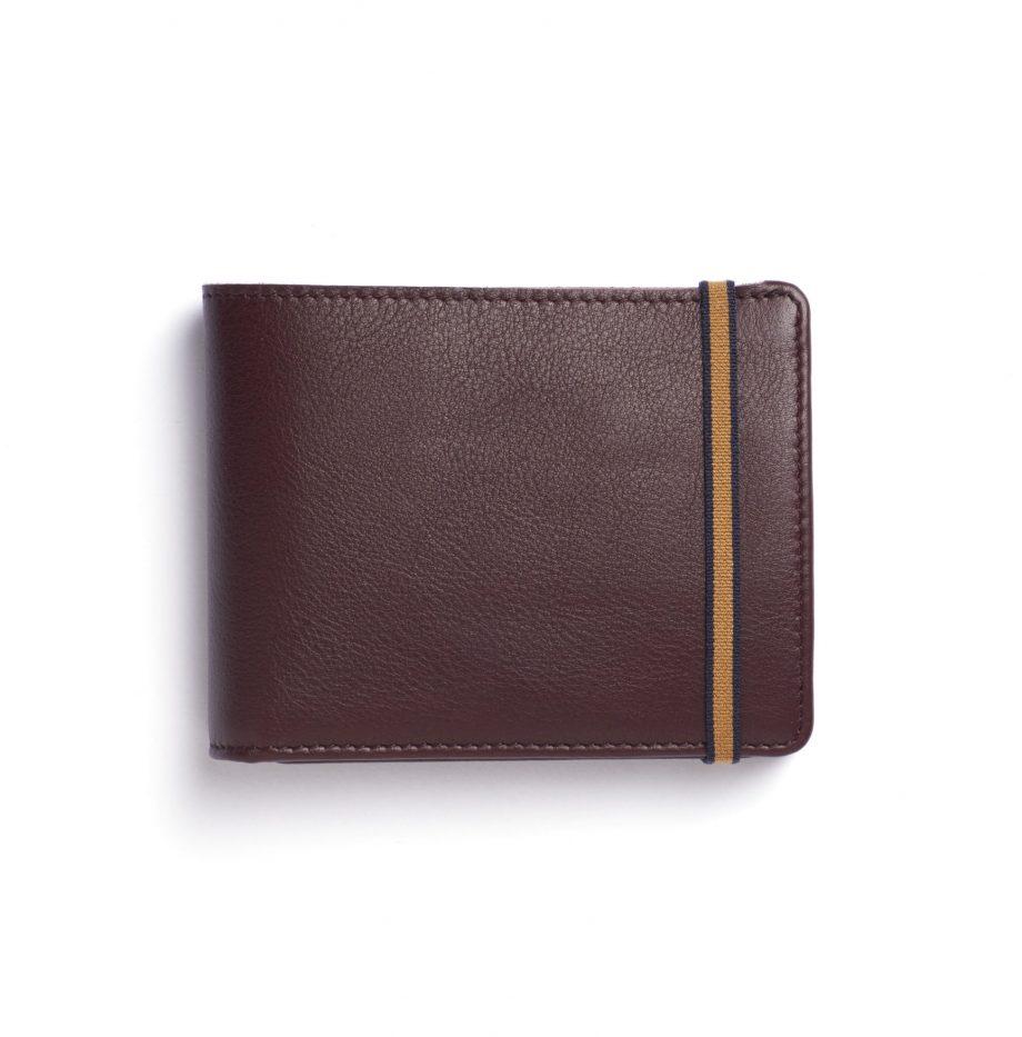 Portefeuille avec Monnaie Carré Royal Bordeaux