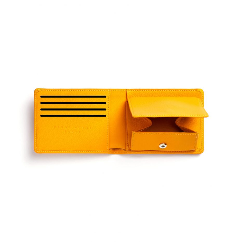 la901-jaune-yellow-minimalist-wallet-with-coin-pocket-open-1-2-scaled