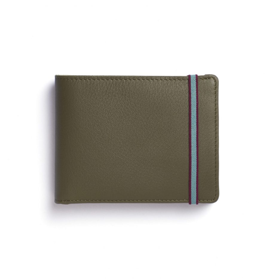 la901-kaki-minimalist-wallet-with-coin-pocket-front-scaled