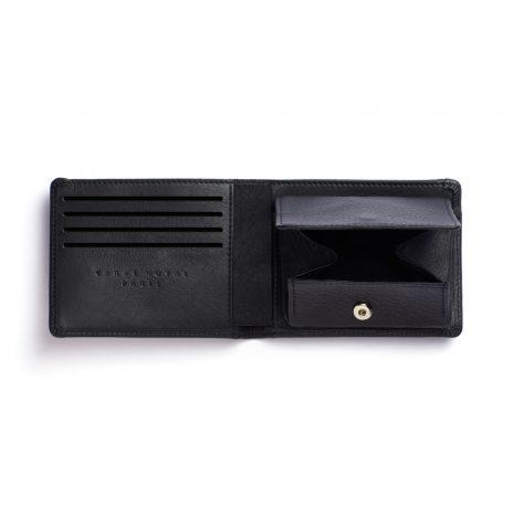 Portefeuille avec Monnaie Carré Royal Noir