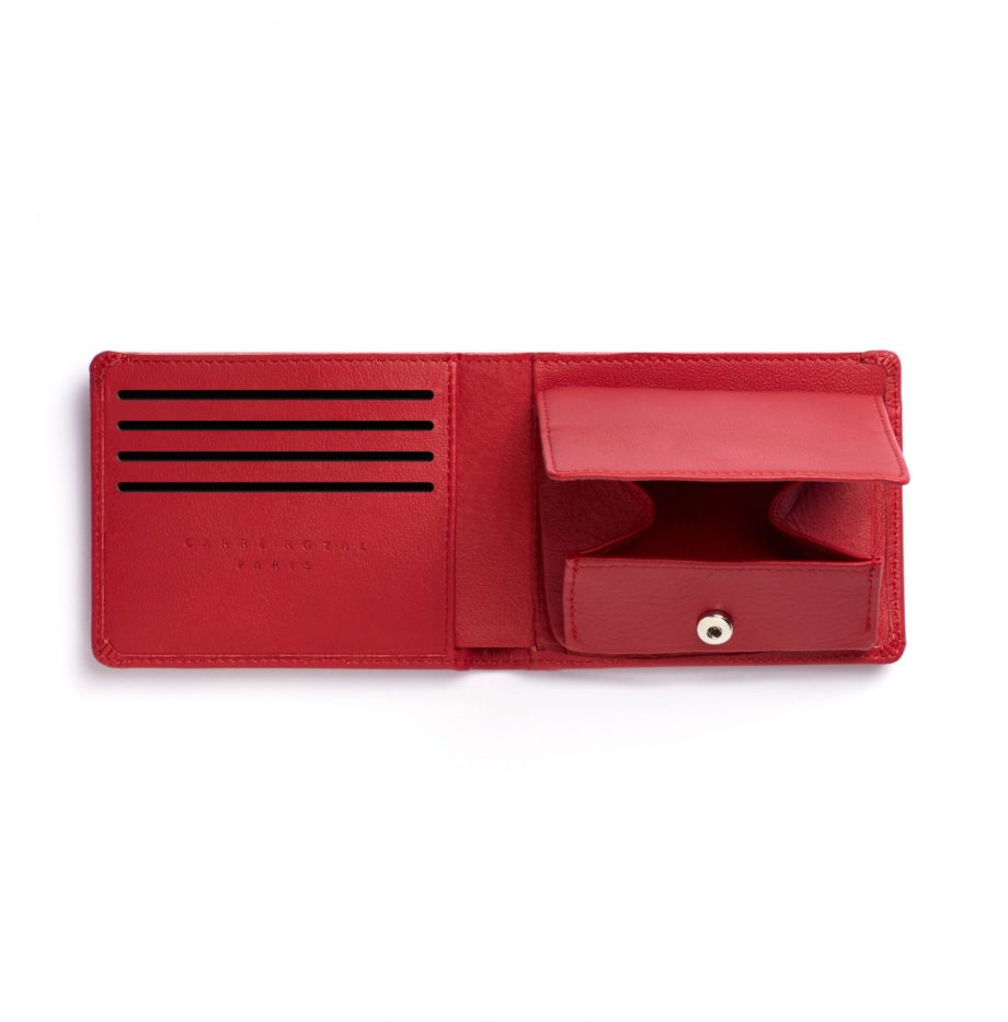 la901-rouge-red-minimalist-wallet-with-coin-pocket-open-2-scaled