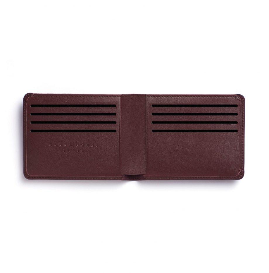 la902-bordeaux-burgundy-minimalist-wallet-open-2-scaled