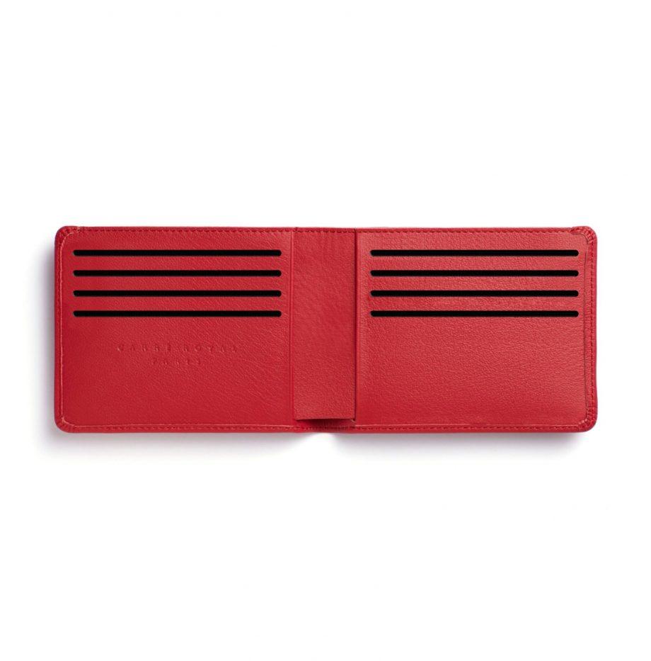 la902-rouge-red-minimalist-wallet-open-2-scaled