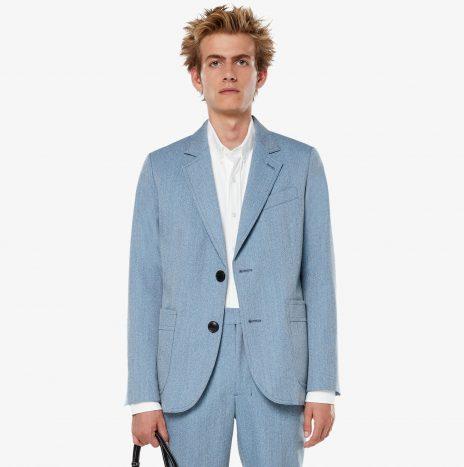 Vestes Poches Plaquées Ami Bleu Ciel