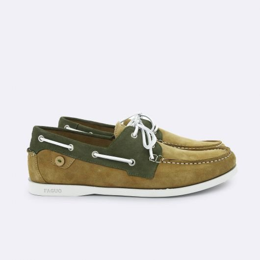 Chaussures_Bateau_Larch_Faguo_Beige:Kaki
