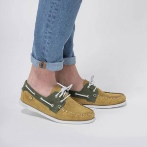 Chaussures Bateau Larch Faguo Beige/Kaki