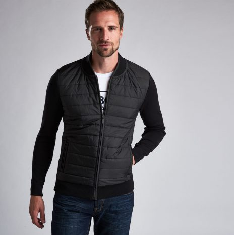 Gilet Baffle Zip Barbour International Black