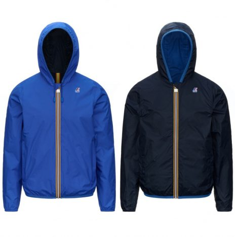 Jacque Plus Double BLouson K-Way Reversible Bleu royal/Marine