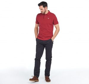 Polo Barbour Sports Polo Biking Red
