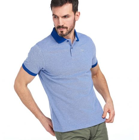 Polo Barbour Sports Polo Mix Electric Blue