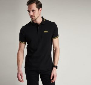 Polo Essential Tipped Barbour International Black