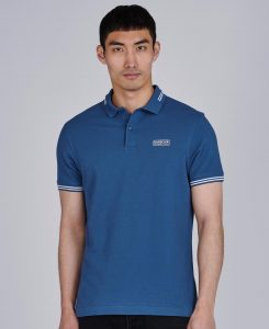 Polo Essential Tipped Barbour International Mid Blue