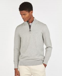 Pull Tain Half Zip Barbour Grey Marl