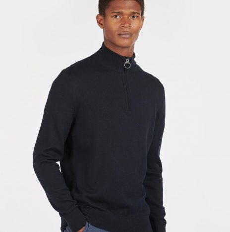 Pull Tain Half Zip Barbour Navy