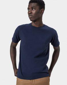 Tee-Shirt Classic Organic Colorful Standard Navy Blue