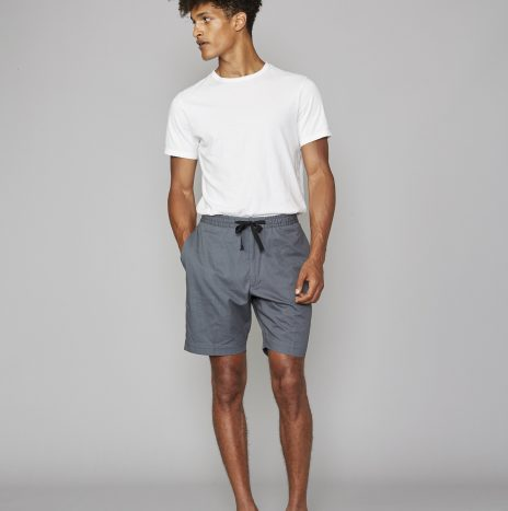 Short Phil Officine Generale Seersucker Bleu Denim