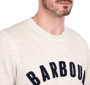 Sweat Barbour Prep Logo Ecru Marl